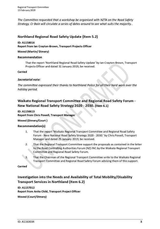 Agenda of Council Meeting - 19 March 2019